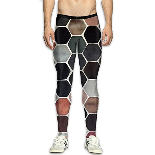 Price comparison product image Fri Hive Honeycomb Athletic Compression Pants / Running Tights Running Tights Men Fitness Worker Reflective