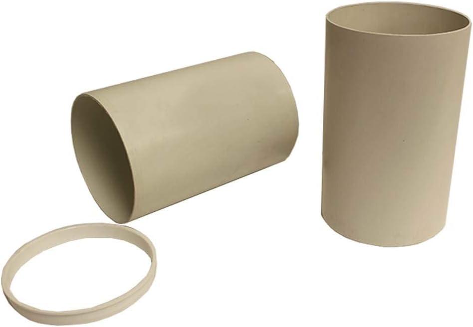 125 mm redondo telescópica de tubo 200 mm-350 mm W/reductor ducvkc357: Amazon.es: Hogar