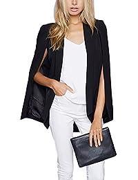 Urban CoCo Women's Fashion Open Front Pocket Cloak Cape Coat Blazer Suit