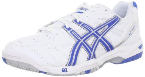 Asics Indoor Court Shoes - ASICS Men's Gel-Game 4 Tennis Shoe,White/Royal Blue/Silver,11.5 M US
