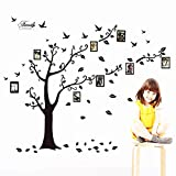 Zhiyu&art decor MT Family Tree Photo Frame Decals Removable Decorative Painting Supplies and Wall Treatments Stickers for Living Room Bedroom