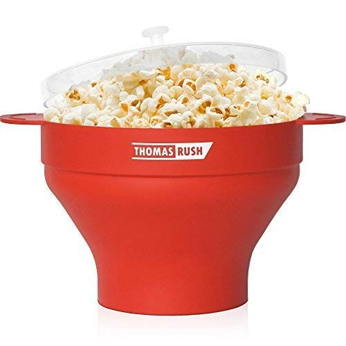 Microwave Popcorn Maker by Thomas Rush (Orange) (Best Way To Store Unpopped Popcorn)