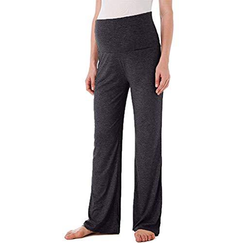 Women's Versatile Comfy Wide Leg Long Maternity Palazzo Gaucho Lounge Pants