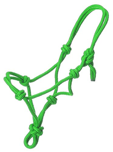 Tough 1 Miniature Poly Rope Tied Halter, Neon/Green, Large ()