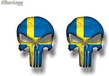 2 PUNISHER Canada 5 Vinyl Graphic Decals American Sniper Canadian Skull Sticker 4x 5 High 2 Decals
