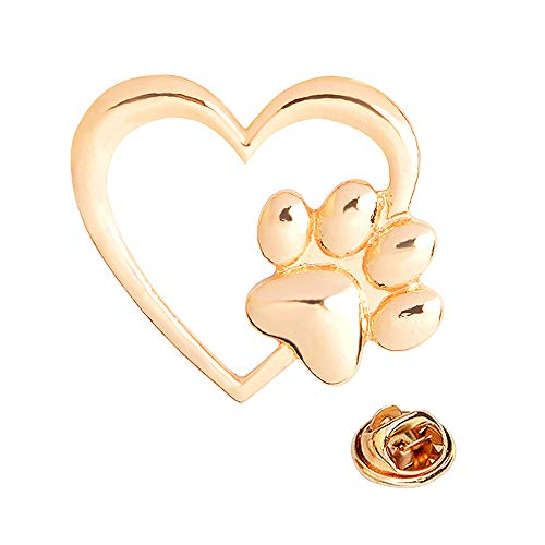 New Arrival Cute Dog Claw Love Heart Charm Button Brooches Pins NP17 (1 Piece) (Claw Brooch)