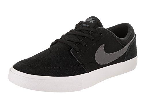 NIKE Men's SB Portmore II Solar Black/Dark/Grey/White Skate Shoe 11 Men US