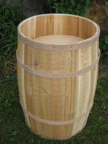 All Maine Bucket BD156 16 x 27 Inch False Bottom Display Barrel