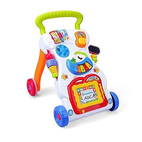 ASUMAN First Steps Baby Walker - Juguete de arrastre para el ...