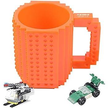 Amazon.com: OIVA Build-On Brick Coffee Mug, 12 oz (Blue ...
