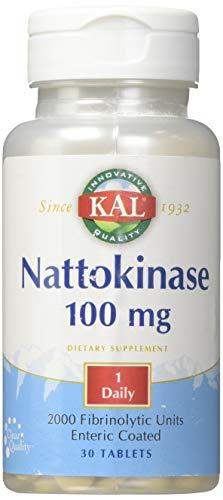 Tablet 30ct 100 Mg - Kal 100 Mg Nattokinase Tablets, 30 Count
