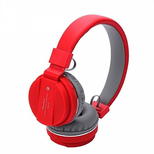 Rewy SH-12 Wireless Bluetooth Headphone Crystal Clear Sound Deep Bass with Supported FM/AUX/SD Card Slot & Mic for Calling All Mobiles Phones (Multi-Colour)