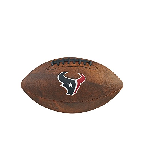 NFL Junior Throwback Team Logo Football - Houston Texans
