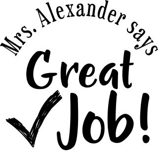 Personalized Teacher Stamp - Custom Teacher Great Job Stamp