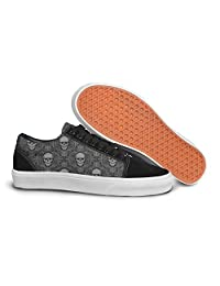 Skull Decal Women's Casual Shoes Sneakers Canvas Lo-Top Spring Gym
