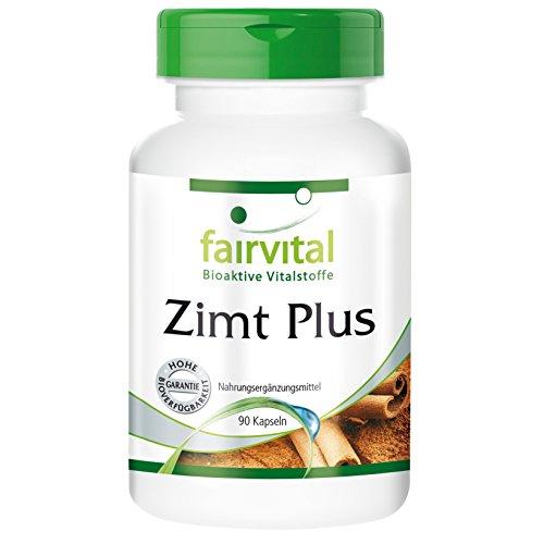 Zimt Plus - Zimtextrakt 200mg mit Chrom, Alpha-Liponsäure und Zink - 90 Kapseln, vegetarisch