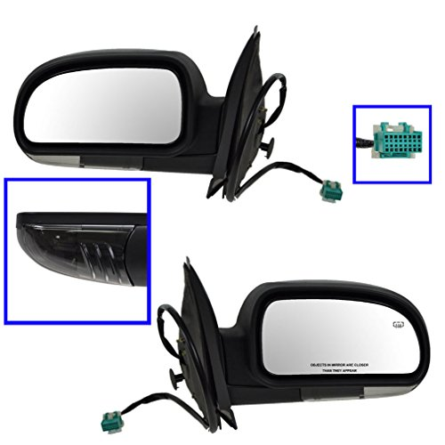 Power Heated Side View Mirrors Pair Set of 2 for Chevy Bravada (Gmc Envoy Power Heated Mirror)