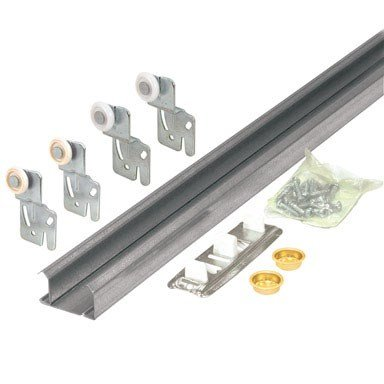 Slide-Co 161791 Bi-Pass Closet Track Kit (2 Door Hardware Pack), ()