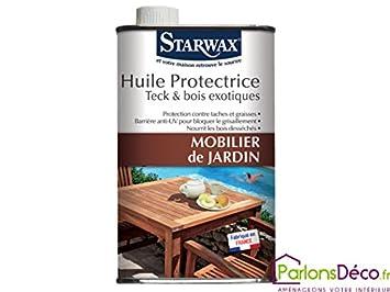 Schutzöl für Gartenmöbeln Teak und Holz Exotische 2L: Amazon.de ...