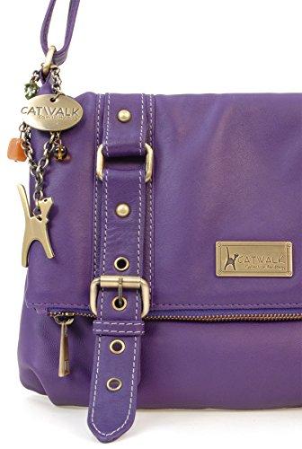 Violet Foncé Catwalk Collection Handbags Abbey Femme Abbey wxxvSq0R