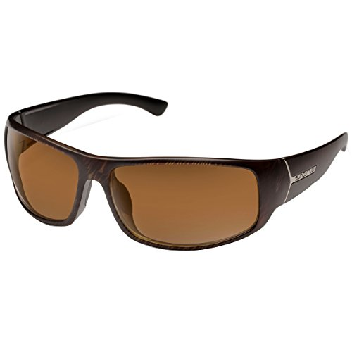 Suncloud Turbine Polarized Sunglasses, Blackened Tortoise Frame, Brown ()