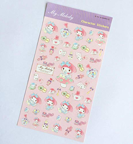 1 Sheets Melody Twin Star Dog Adhesive Stickers DIY Album Decor Student Stationery Sticker ()