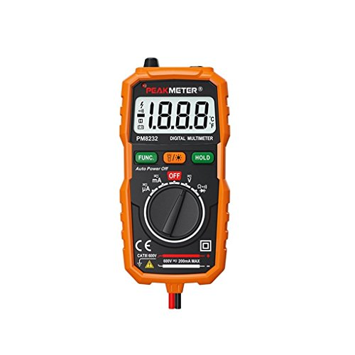 Kiamitor PM8231 Pocket Size 2000 Counts Mini Auto Digital Multimeter with Non Contact Voltage Detector ()