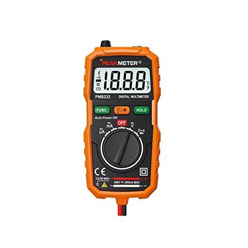 Kiamitor PM8231 Pocket Size 2000 Counts Mini Auto Digital Multimeter with Non Contact Voltage Detector ()