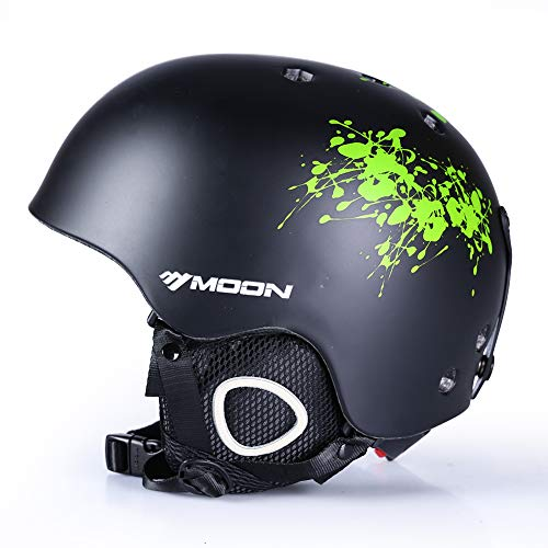 MOON Ski & Snow Sports Helmet with Removable Thickened Earmuffs, for Adult and Youth,Women and Men,Skate & Bike & Snowboard & Other Extreme Sports