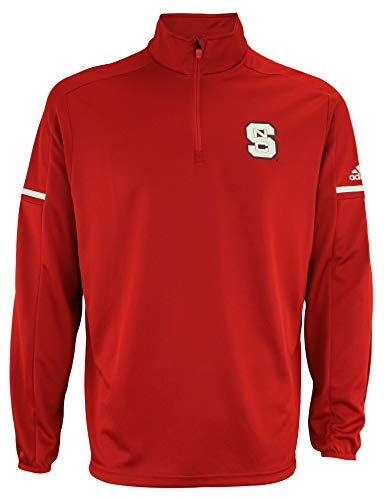 Nc State Wolfpack Jacket - adidas NCAA North Carolina State Wolfpack Men's Sideline L/S 1/4 Zip Pullover Jacket, Medium, Power Red