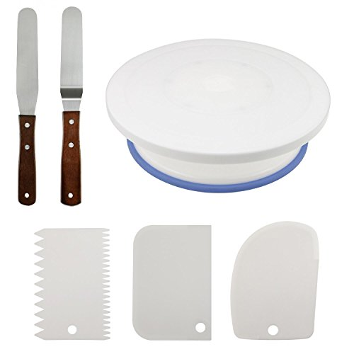 Fixget 10.8'' Cake Decorating Turntable