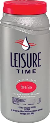 LEISURE TIME 45425 Bromine Tabs, 1.5-Pound