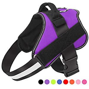 Bolux Dog Harness, No-Pull Reflective Breathable Adjustable Pet Vest with Handle for Outdoor Walking – No More Pulling, Tugging or Choking