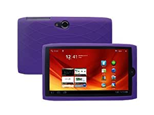 Acer Iconia A100 7-Inch Tablet Silicone Skin Case Gel Cover - Pruple