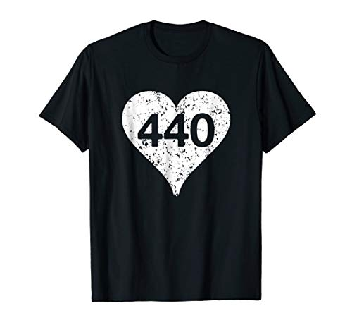 Lorain Avon Lake Ohio River Area Code 440 Heart T-Shirt