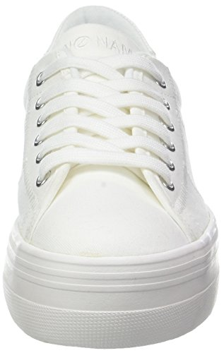 Donna Plato Fox White Sneaker Blanc 01 Canvas NONAME White dtwqYB0B