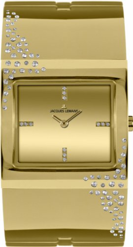 Jacques Lemans Women's 1-1590C Cannes Analog with Swarovski Elements Watch