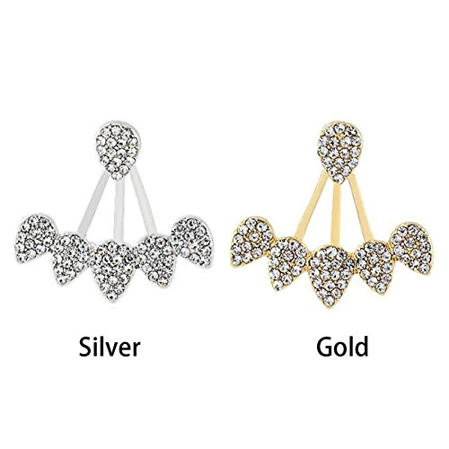 Earrings Stud Beautiful Sun Flower Front to Back Earring Women Lovely Jewelry 2 Pair Earrings 3D Earring Silver Plated - Dress Ring Designs
