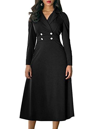 formal black dresses for work - 3