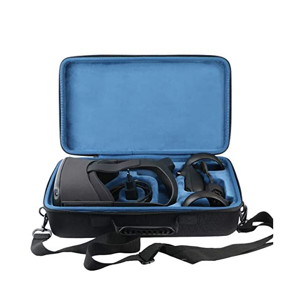 Khanka Hard Travel Case Replacement for Oculus Quest All-in-one VR Gaming Headset (Inside Blue) 2