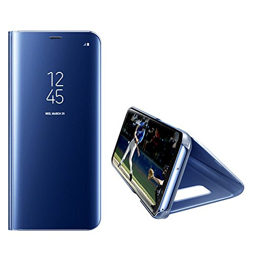 Leather Case with Stand for Huawei P9 Plus,Bookstyle Flip Case Cover for Huawei P9 Plus,Leecase Mirror Effect Transparent View Standing Function for Huawei P9 Plus-Blue by Leecase (Image #8)