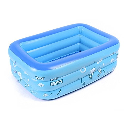 BELUPAI Baby Inflatable Folding Bath Pool, Extra Thick Baby Blue Swimming Pool Portable Travel Shower Basin Bathtub for Baby and Kids