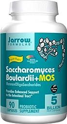 Jarrow Formulas Saccharomyces Boulardii + MOS, 5 Billion Cells Per Capsule, Promotes Intestinal and Digestive Health, 90 Veggie Capsules