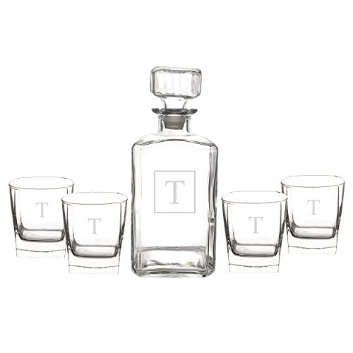 Cathys Concepts Personalized Decanter Glasses