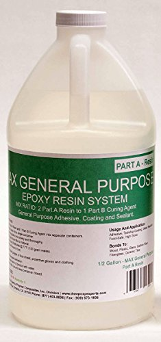 MAX GPE -GENERAL PURPOSE GRADE Epoxy Resin System - 3/4 Gallon Kit - RV Repair Panel Injectable Adhesive, Wood Sealing And Waterproofing Resin System, Low Viscosity, Long Working Time by The Epoxy Experts (Image #1)