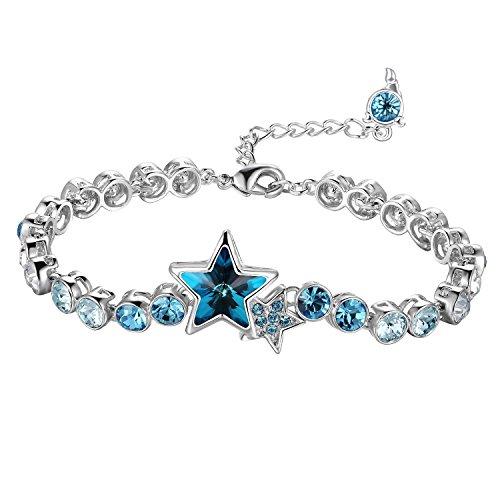 Crystal Bracelet with 12 Star Signs / Zodiacs Tail Pendant - Scorpio - Crystal From Swarovski