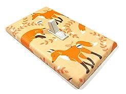Orange Fox Light Switch Cover Plate