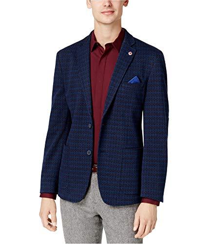 Ben Sherman Mens Slim-Fit Two Button Blazer Jacket, Blue, 44 Short