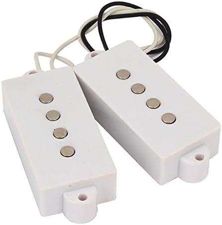 1 Set White 4 String Humbucker Pickups for P Bass Guitar Parts