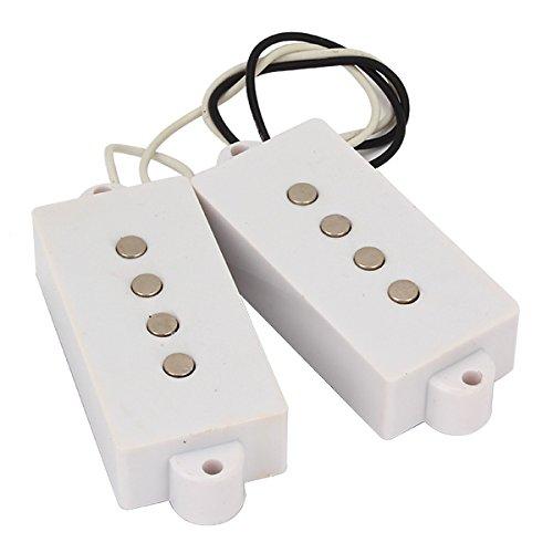 1 Set White 4 String Humbucker Pickups for P Bass Guitar ()